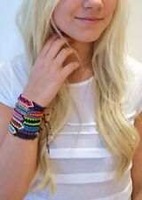 Handwoven Silk Friendship Bracelets Wholesale Lot of 16 Flat Macrame Wristband