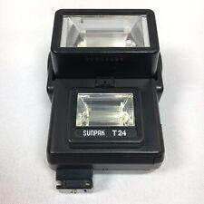 Sunpak T 24 Twin Head Camera Flash TESTED *WORKS*