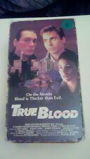 True Blood 1989 VHS Jeff Fahey Chad Lowe Sherilyn Fenn nudity Billy Drago gangs
