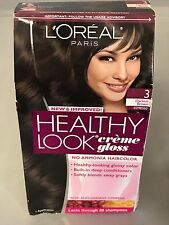 L'oreal Healthy Look Creme Gloss, 1 Application, 3 Darkest Brown
