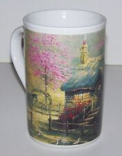 "Thomas Kinkade ""STEPPING STONE COTTAGE"" Horses Collectible Coffee Tea Mug NEW"