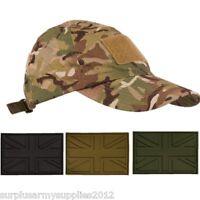 MILITARY CAMOFLAUGE CAP + PATCH BTP CAMO MTP BRITISH ARMY HAT INFIDEL TALIBAN