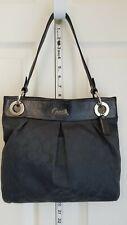 Coach Ashley Lorex Signaturre Charcoal Handbag