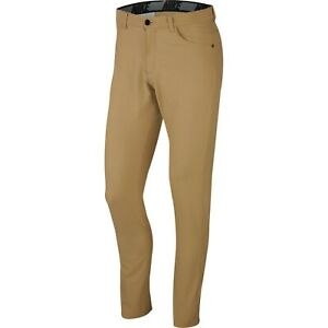 Nike Men's Flex Slim Fit 6 Pocket Golf Pants Dri-fit 34 x 34 BV0278-297 Tan