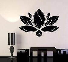 Vinyl Wall Decal Lotus Flower Meditation Yoga Spa Center Stickers (1092ig)
