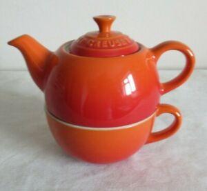 LE CREUSET ~ TEA FOR ONE ~ VOLCANIC ORANGE
