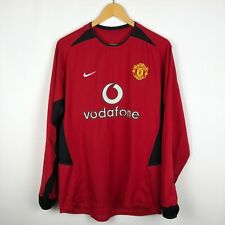 Manchester United 2002 2004 Home football shirt soccer jersey long sleeve Nike