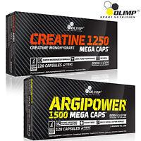 Creatine Monohydrate + Argipower L-Arginine Preworkout Capsules Nitric Oxide