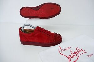 Christian Louboutin Red Spike Sneakers Trainers 37.5 Uk 4.5 VGC Louis  Junior