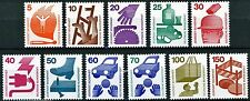 Germany 1971 Accident Prevention Issues Complete Set 11 MNH Scotts 1074 to 1083