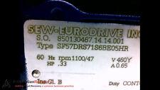 SEW EURODRIVE SF57DRS71S6BE05HR MOTOR 3PH .33RPM 460VAC 5.0NM #198353