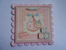 PACK 2 BABY GIRL PINK BUNDLE  FOR CARDS & CRAFTS