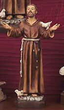 Bomboniera statua in resina altezza cm 12 beato San Francesco D'Assisi