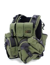 Tactical Vest Machine Gun Military Plate Carrier, Body Tight, Ceramic Plates