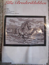 Running Horse cross stitch kit made in Sweden