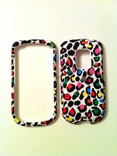 HTC HERO G3 RUBBERIZED MULTI COLOR LEOPARD ON WHITE GROUND COVER NEW