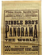 More details for dibble bro's mammoth palace hall panorama of the world!