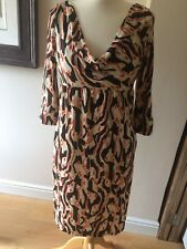 Diane von Furstenberg 100% Silk Francesca Dress Size 10