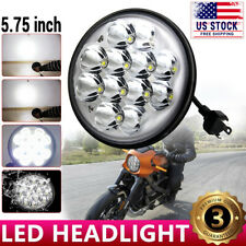 """Motorcycle 5.75"""" 5 3/4"""" LED Headlight Projector For Dyna Sportster XL1200 XL883"""