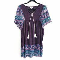UMGEE Paisley Print Tunic Boho Style Dress Size M