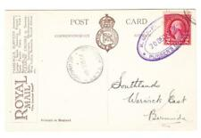 2c FOURTH BUREAU-SHIP CANCEL-R.M.S.P. AVON/PURSER`S OFFICE 20/DEC/1928