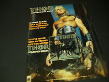 THOR barechested in leather w/ Doberman dogs 1978 PROMO POSTER AD Keep Dogs Away