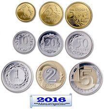 Poland   2016   Set 9 coins ... Polska  Grosz / Zloty .. 9 psc.~ Lot UNC.