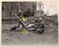 Dec 1944 US Signal Corps Reprint Photo Mortar Crew 87th Chem Sqd Duren Germany