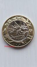 1999-2000*UNC*FALKLAND ISLANDS MILLENNIUM £2 TWO POUND COIN-CROWN SIZE 39MM