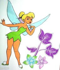 """21"""" DISNEY TINKERBELL FAIRY FLOWER CHARACTER WALL SAFE FABRIC DECAL CUT OUT"""