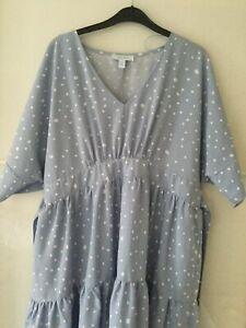Blue spotty dress size 16