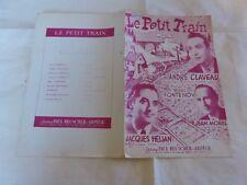 CLAVEAU - MOREL - HELIAN - Partition LE PETIT TRAIN !!!