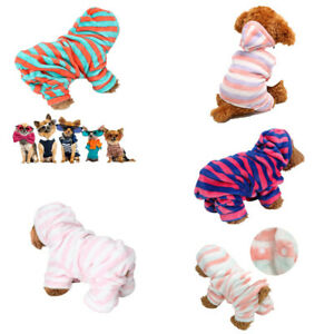 Coral Fleece Hoodies Pajamas Winter Four Feet Pet Dogs Cats Warm XS/S/M/L/XL