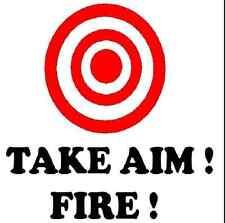 2 x Take Aim Fire (Drôle de toilette Graphic decal, stickers, toilette Voiture Van Caravane