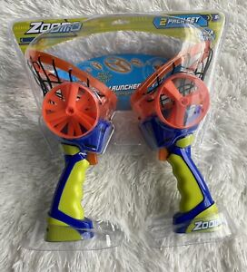 Zoom-O Flying Disc Launcher w/ Catch Net (2-Pack)   Catch and Shoot Plastic