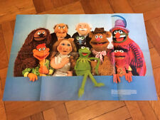 Vintage 1979 Double Sided Muppets Poster Original Super Rare National Geographic