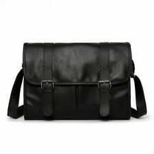Men Vintage Backpack High Quality Cross Vegan Leather Business Messenger Bags
