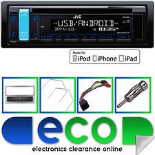 JVC CD MP3 RDS SINTONIZZATORE USB AUX IPHOD STEREO AUTO & VAUXHALL AGILA ARGENTO FASCIA KIT