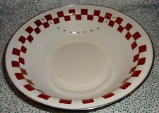 Golden Rabbit II Jean Wilkes Red Checkered Ants Large Serving Salad Bowl