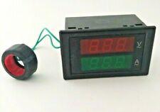 Led Dual Display Ac 80v 300v 0 999a Ac Voltmeter Ammeter Voltage Meter Dl85