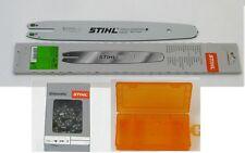 """Stihl Führungsschiene Rollomatic 35cm 3/8""""P 1,1mm 3005 000 3909 + Kette + Box"""