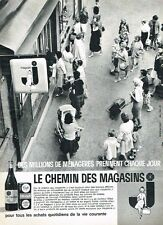 H- Publicité Advertising 1961 Le chemin des magasins J