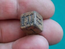 CIRCA 300 - 400 AD ANCIENT ROMAN CARVED LEGIONARES GAMING DICE ASTRAGALUS