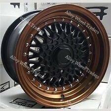 "Alloy Wheels 16"" RS For Bmw E30 Fiat Punto Evo Grande Punto 4x100 MB Bronze"