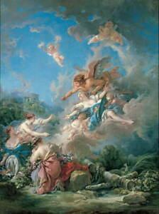 Francois Boucher Boreas Abducting Oreithyia Giclee Paper Print Poster