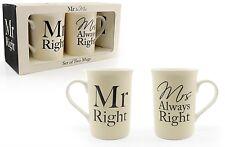 El Sr.. derecho y la Sra. siempre derecho Tazas Perfecto Novedad Regalo Tazas Boda Aniversario