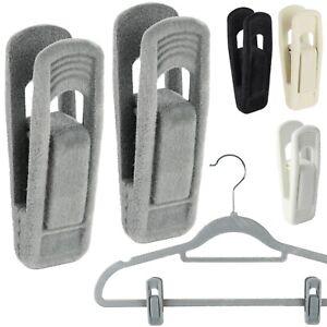 The Hanger Store™ Non-slip Clips for Velvet Coat Hangers, Trousers & Skirts