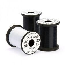 Fly Tying Thread, 2 Pack Uni Caenis Thread, one black one white, Fine strand