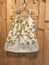 Baby Gap Daisy Blue Yellow Floral Girls Sun Dress Spring 12 -18 Mo Too Cute!
