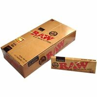 Raw Unrefined Classic 1.25 1 1/4 Size Cigarette Rolling Papers Box 24 Packs